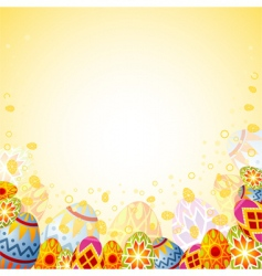 Easter frame vector