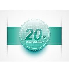 Discount sale label vector