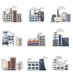 Industrial building set vector