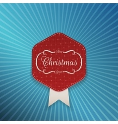 Christmas realistic red emblem template vector