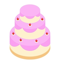 Wedding cake isometric 3d icon vector