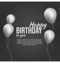 Happy birthday poster happy birthday background vector
