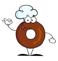 Friendly Donut Cartoon Character vector image