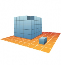 cube boxes vector image