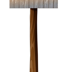 A wooden mailbox with a post vector image vector image