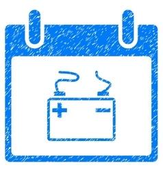 Accumulator calendar day grainy texture icon vector
