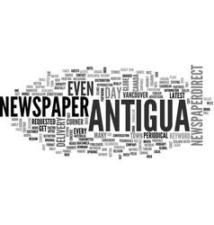 Antigua map text word cloud concept vector