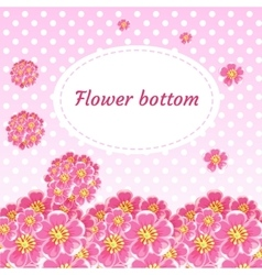 Background with flower buds and bouquets of cherry vector