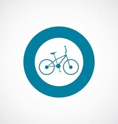 bike icon bold blue circle border vector image vector image