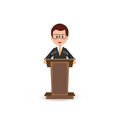 businessman standing to speaking and presentation vector image vector image