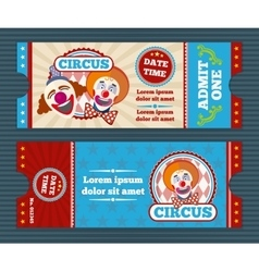 Circus ticket template vector image vector image