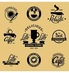 Coffee set 4 vector