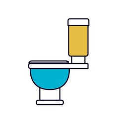 color sections silhouette of toilet icon side view vector image
