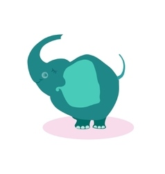 Cute Cartoon Elephant Flat vector image vector image