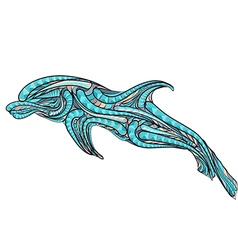 Ethnic bottlenose dolphin vector