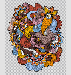 flower tattoo on transparent background vector image vector image