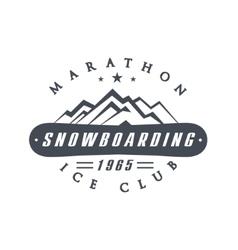 Ice club emblem design vector