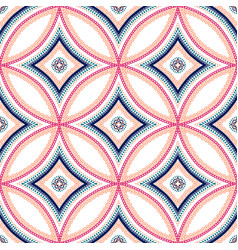 intricate mandala blue background vector image vector image