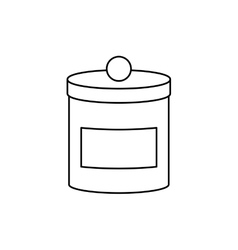 isolated food container vector image