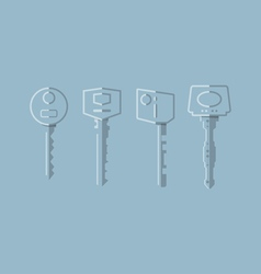 Keys Transparent vector image vector image