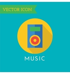 Player icon icon sound tools or dj and vector