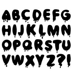 Smudge alphabet vector