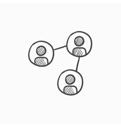 Social network sketch icon vector image