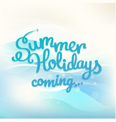 summer holidays concept with logo vector image vector image
