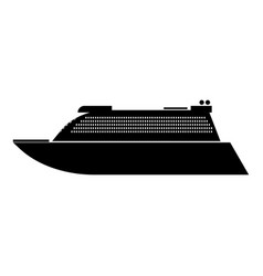 transatlantic cruise liner black color icon vector image