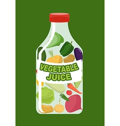 Vegetables juice Juice from fresh vegetables vector image