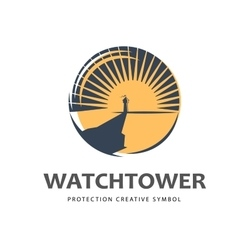 Watchtower logo template vector