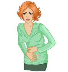 Woman with stomach issues vector image