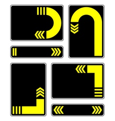 yellow arrows vector image