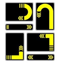 Yellow arrows vector