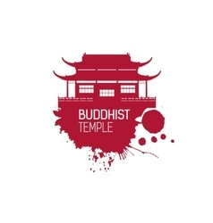 Buddhist church and splash vector