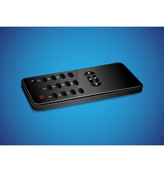 Black remote controller vector