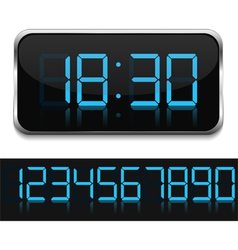 Digital clock vector