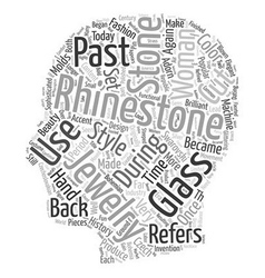 Rhinestones and their history text background vector