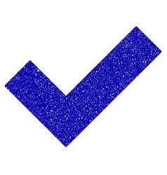 yes tick icon grunge watermark vector image