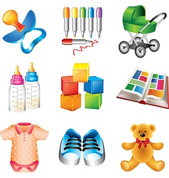 Icons children vector