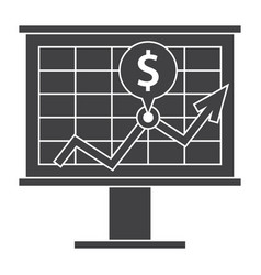 Financial strategy icon vector