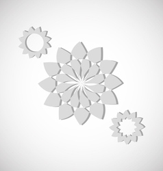 Flower shapes vector