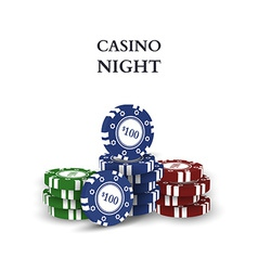 Casino chips isolated on white background vector