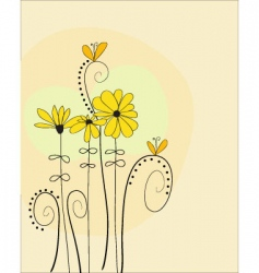 sunny flowers vector image