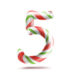 5 number five 3d number sign figure 5 in vector image vector image