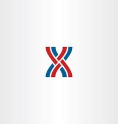 Interlaced letter x logo icon vector