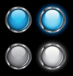 Shiny rollover web buttons vector