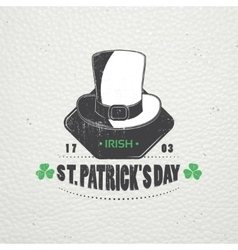 Saint patricks day luck of the irish detailed vector
