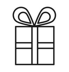 Gift box isolated icon design vector