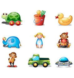 A collection of the different toys vector image vector image